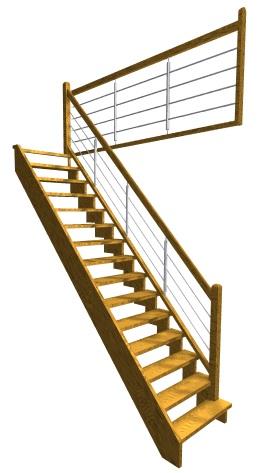 Jednoramenné priamočiare schodisko